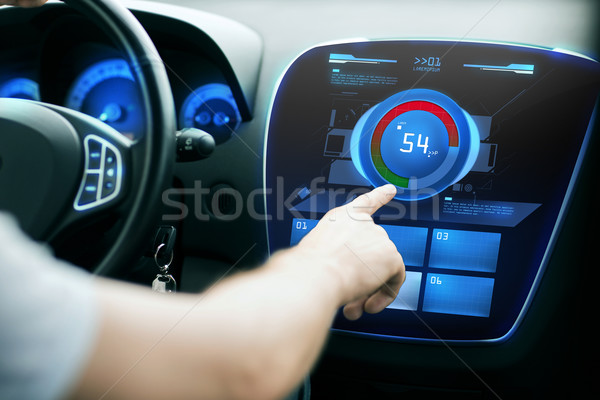 Hand volume auto audio stereo vervoer Stockfoto © dolgachov