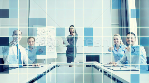 group of businesspeople pointing finger at you Stock photo © dolgachov