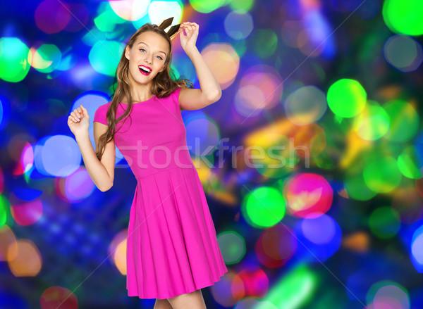Felice teen girl principessa corona persone Foto d'archivio © dolgachov