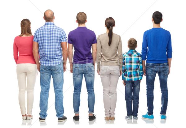Persone gruppo indietro famiglia genere generazione persone Foto d'archivio © dolgachov