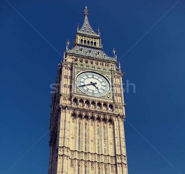 Big Ben magnifique horloge tour Londres Angleterre Photo stock © dolgachov