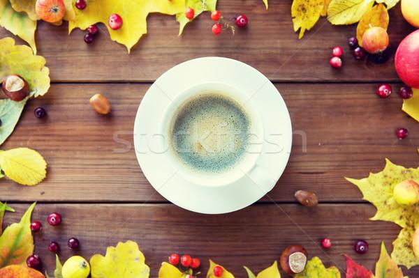 Zdjęcia stock: Filiżankę · kawy · tabeli · sezon · pić