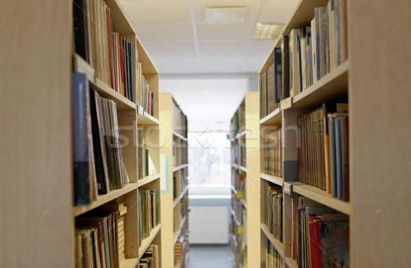 bookshelves with books at school library Stock photo © dolgachov