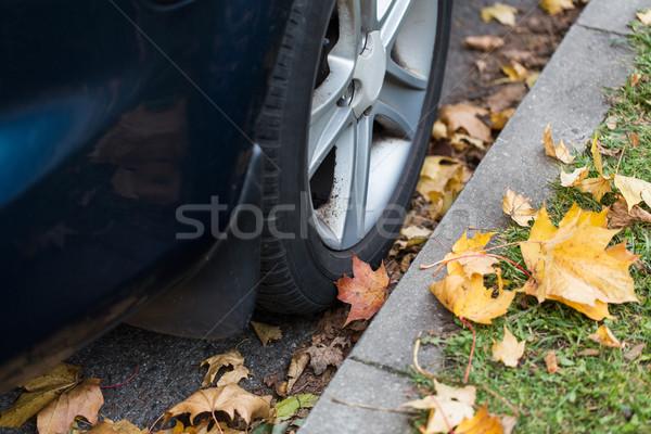 Zdjęcia stock: Samochodu · koła · sezon · transportu