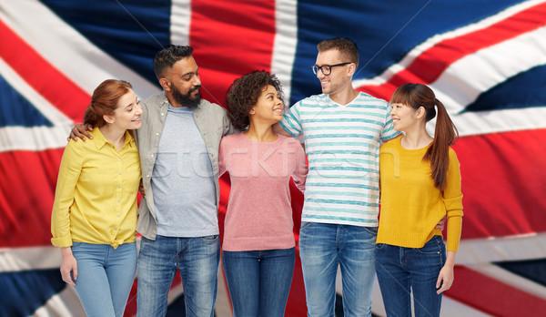 Сток-фото: международных · группа · счастливым · улыбаясь · люди · разнообразия