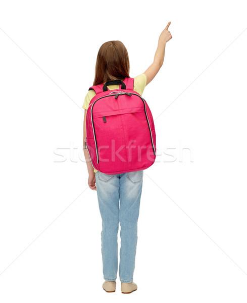 Mały student dziewczyna szkoły worek powrót Zdjęcia stock © dolgachov