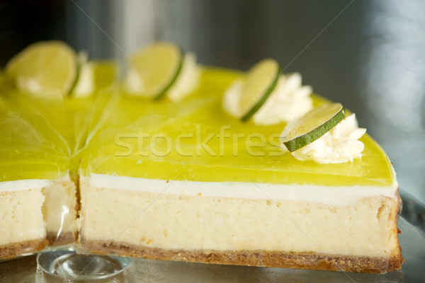 pieces of lime cake on stand Stock photo © dolgachov