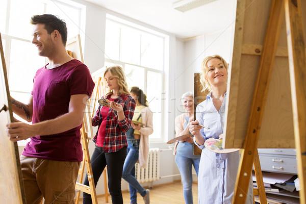 Peinture art école créativité éducation personnes Photo stock © dolgachov