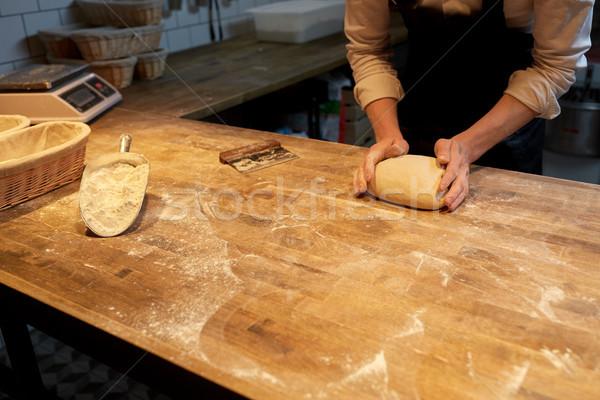 Baker pane panetteria cucina alimentare Foto d'archivio © dolgachov