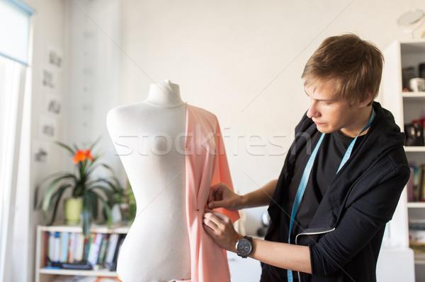 Сток-фото: моде · дизайнера · платье · студию · люди