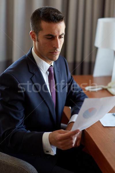 бизнесмен документы рабочих номер в отеле деловые люди документы Сток-фото © dolgachov