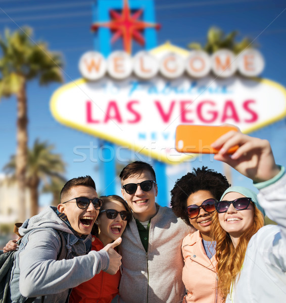 Amigos Las Vegas verão férias Foto stock © dolgachov
