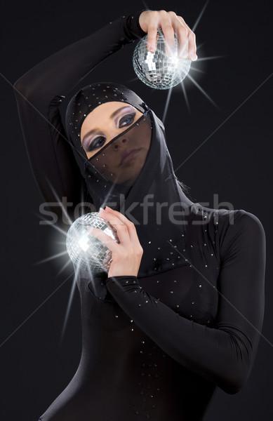Ninja festa dançarina vestir discoteca Foto stock © dolgachov