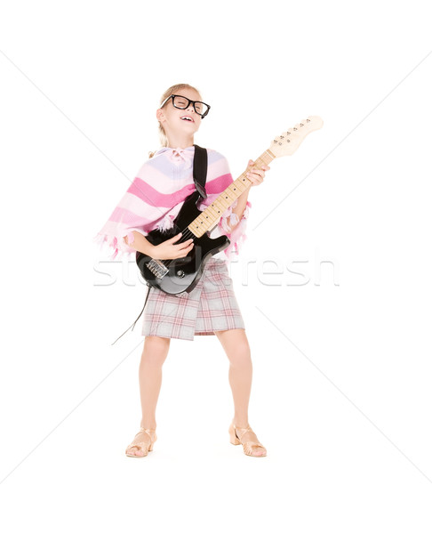 guitar girl Stock photo © dolgachov
