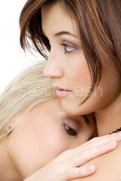 Samimi resim iki kızlar Stok fotoğraf © dolgachov
