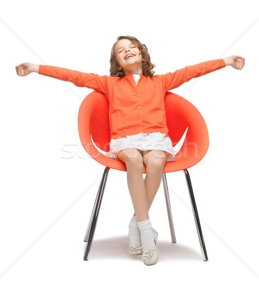 pre-teen girl in casual clothes Stock photo © dolgachov