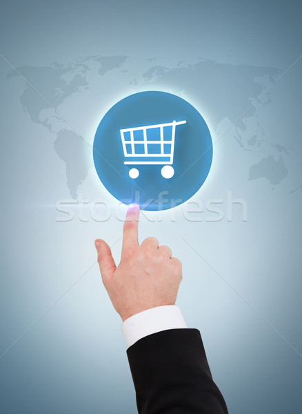 Photo stock: Affaires · pointant · panier · affaires · Shopping
