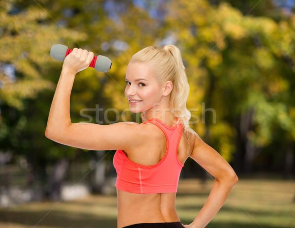Foto d'archivio: Giovani · donna · luce · fitness