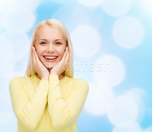 happy young woman Stock photo © dolgachov