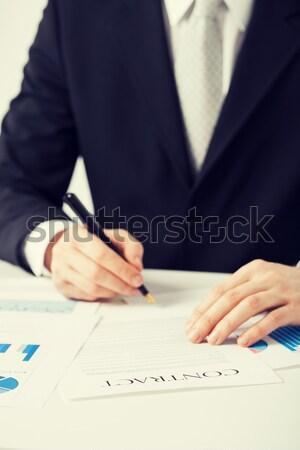 человека рук игорный подписания договор фотография Сток-фото © dolgachov
