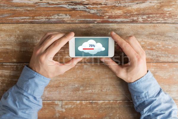 ストックフォト: 手 · スマートフォン · ビジネス · 教育