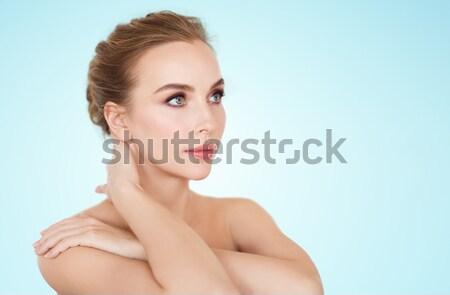 Kobieta duży diament piękna kobieta Zdjęcia stock © dolgachov