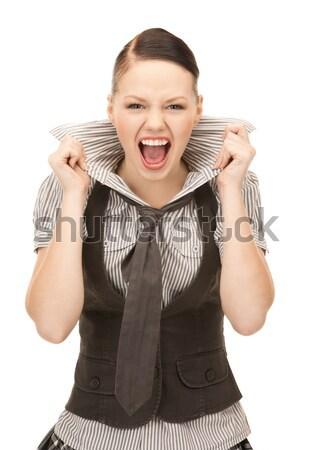 Sikít tinilány fényes kép fehér nő Stock fotó © dolgachov