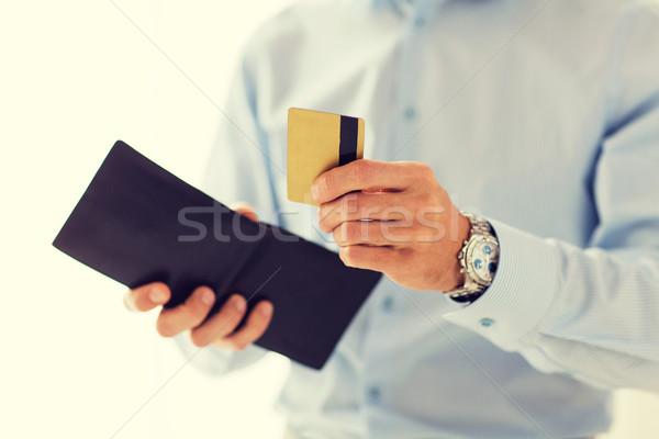 человека бумажник кредитных карт люди Сток-фото © dolgachov