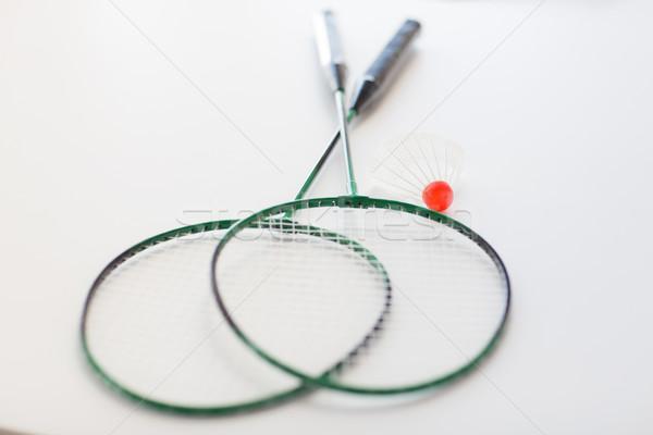 バドミントン スポーツ フィットネス オブジェクト ストックフォト © dolgachov