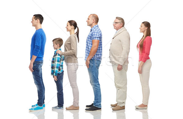 group of people from side Stock photo © dolgachov