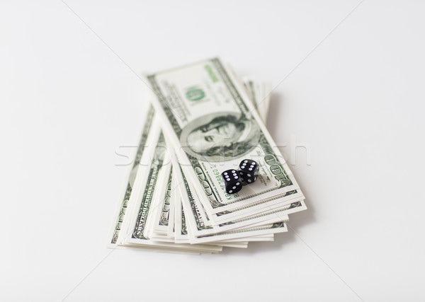 Noir dés dollar trésorerie argent Photo stock © dolgachov