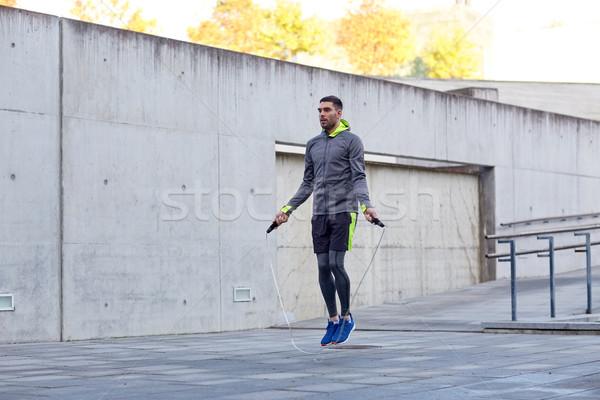 Człowiek odkryty fitness sportu ludzi Zdjęcia stock © dolgachov