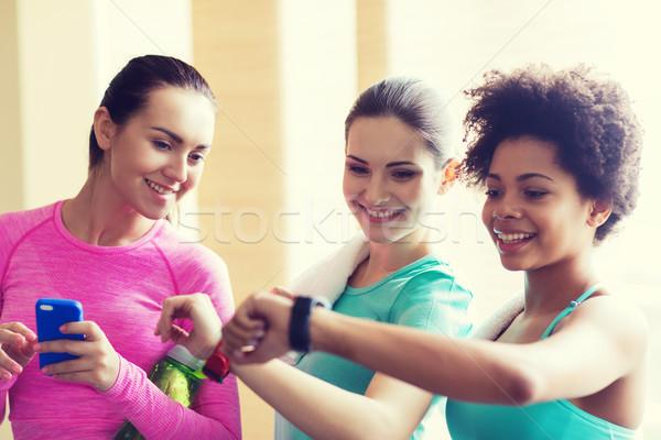 幸せ 女性 時間 ジム ストックフォト © dolgachov