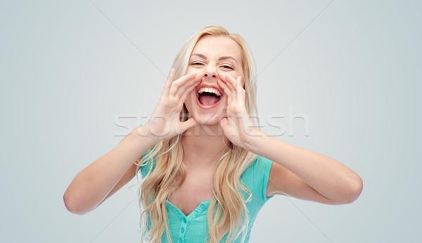 若い女性 十代の少女 喜怒哀楽 人 ストックフォト © dolgachov