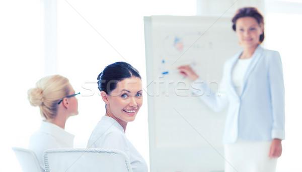 女實業家 商務會議 辦公室 圖片 微笑 業務 商業照片 © dolgachov