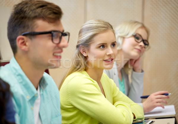 Groep studenten college onderwijs middelbare school universiteit Stockfoto © dolgachov