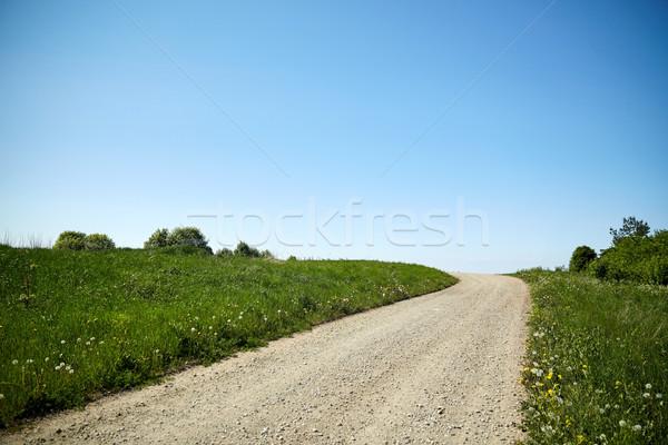 Estrada rural verão trio viajar natureza Foto stock © dolgachov