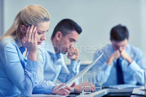 Gente de negocios problema oficina negocios trabajo en equipo personas Foto stock © dolgachov