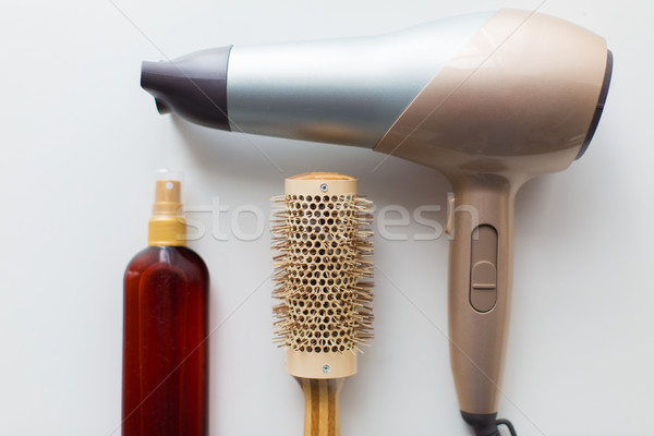 Haardroger borstel hot haren spray tools Stockfoto © dolgachov