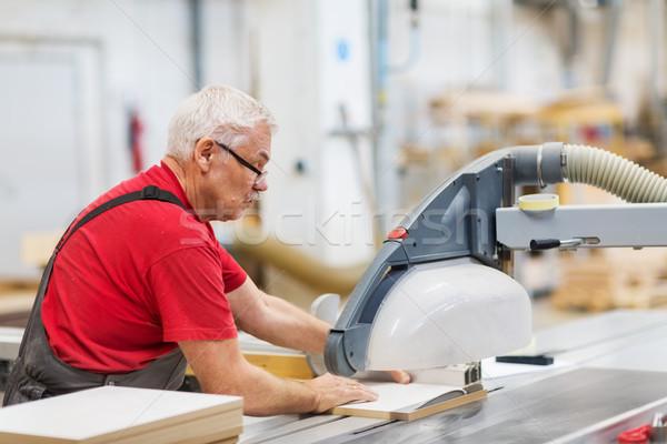 Timmerman paneel zag fabriek productie industrie Stockfoto © dolgachov