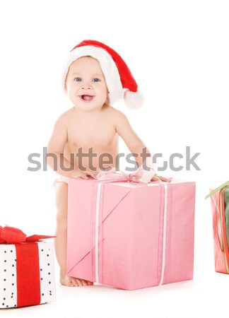 santa helper girl on high heels #3 Stock photo © dolgachov