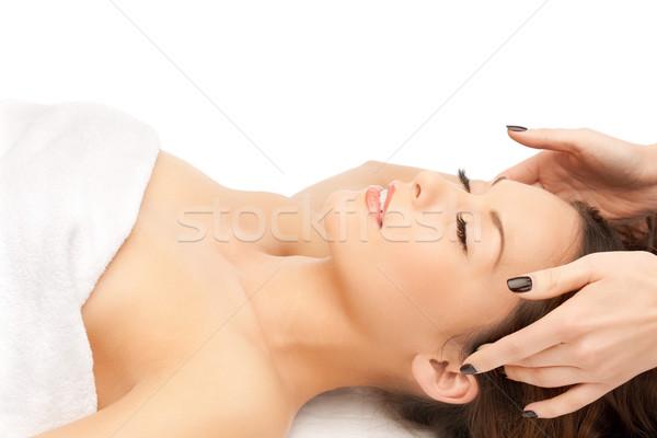 Piękna kobieta masażu salon zdjęcie kobieta ręce Zdjęcia stock © dolgachov