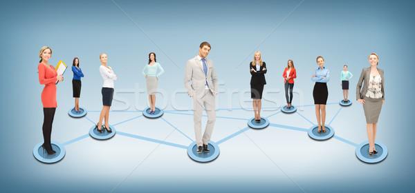 Zdjęcia stock: Społecznej · business · network · działalności · sieci · człowiek · kobiet