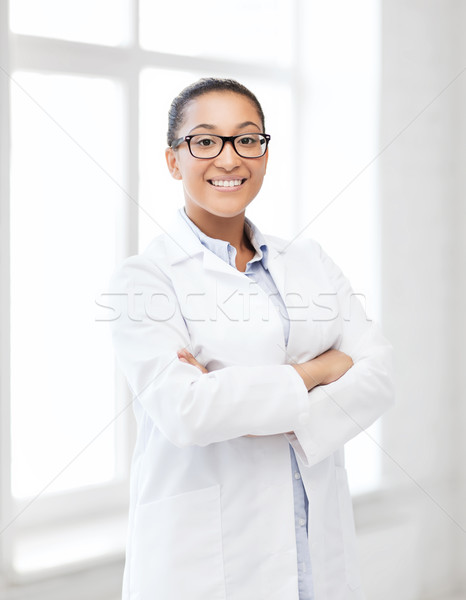 african female doctor in hospital Stock photo © dolgachov