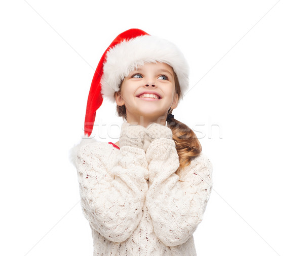 夢 少女 サンタクロース ヘルパー 帽子 クリスマス ストックフォト © dolgachov