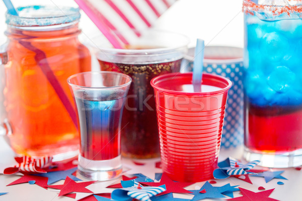 drinks on american independence day party Stock photo © dolgachov