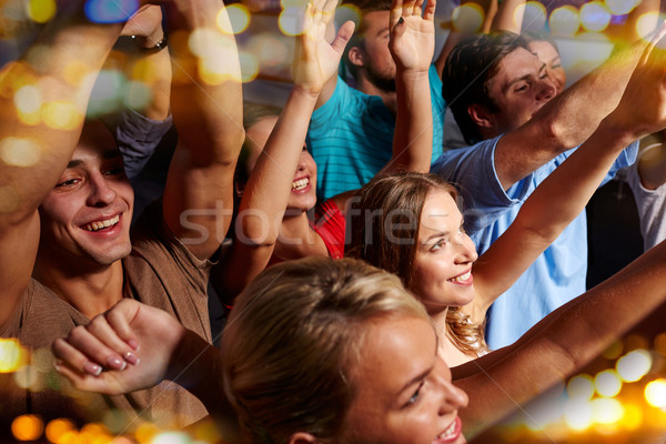 Csoport mosolyog barátok koncert klub buli Stock fotó © dolgachov