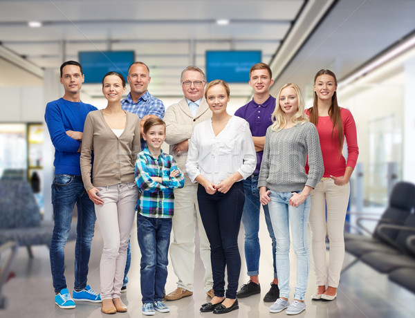 group of smiling people Stock photo © dolgachov