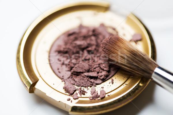 Fard à paupières cosmétiques maquillage beauté Photo stock © dolgachov