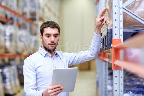 бизнесмен склад оптовая торговля бизнеса экспорт Сток-фото © dolgachov